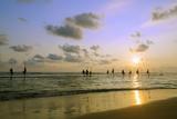 Stilt Fishermen, Dalawella, Sri Lanka, Indian Ocean, Asia Photographie par Christian Kober