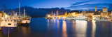 Trogir Town and Boat Docks at Night, Dalmatian Coast, Adriatic, Croatia, Europe Photographic Print by Matthew Williams-Ellis