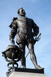 Statue of Sir Francis Drake on Plymouth Hoe, Plymouth, Devon, England, United Kingdom, Europe Photographic Print by David Lomax