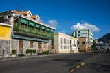 Downtown Roseau Capital of Dominica, West Indies, Caribbean, Central America Photographic Print by Michael Runkel