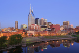 Cumberland River and Nashville Skyline, Tennessee, United States of America, North America Lámina fotográfica por Cummins, Richard