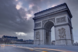 The Arc De Triomphe at Dusk, Paris, France, Europe Photographic Print by Julian Elliott