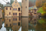 Schloss (Castle) Mespelbrunn in Autumn, Near Frankfurt, Germany, Europe Photographic Print by Miles Ertman