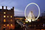 The Wheel of York and Royal York Hotel at Dusk, York, Yorkshire, England, United Kingdom, Europe Photographic Print by Mark Sunderland