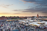 View of the Djemaa El Fna at Sunset, Marrakech, Morocco, North Africa, Africa Photographic Print by Matthew Williams-Ellis
