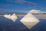 Salt Cones, Salar De Uyuni, Potosi, Bolivia, South America Photographic Print by Gabrielle and Michel Therin-Weise