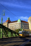 Gellert Hotel and Spa, Liberty Bridge and Tram, Budapest, Hungary, Europe Photographic Print by Neil Farrin