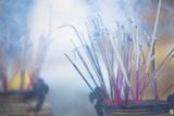 Incense Burning at Shwedagon Paya (Shwedagon Pagoda), Yangon (Rangoon), Myanmar (Burma), Asia Photographic Print by Lee Frost