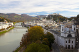 Overview of Salzburg in Autumn, Salzburg, Austria, Europe Photographic Print by Miles Ertman