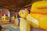 Buddha Statues, Southern Province, Sri Lanka, Asia Photographic Print by Christian Kober