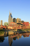 Cumberland River and Nashville Skyline, Tennessee, United States of America, North America Photographic Print by Richard Cummins