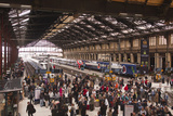 Crowds of People in the Gare De Lyon, Paris, France, Europe Photographic Print by Julian Elliott