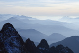Mountain Silhouette, Aiguilles Rouges, Chamonix, Haute-Savoie, French Alps, France, Europe Photographic Print by Christian Kober