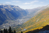 Autumn Colours in Chamonix Valley, Chamonix, Haute-Savoie, French Alps, France, Europe Photographic Print by Christian Kober