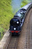 Steam Train on Bluebell Railway, Horsted Keynes, West Sussex, England, United Kingdom, Europe Photographic Print by Neil Farrin