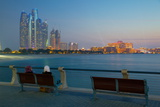 Emirate Towers and Emirates Palace at Night, Abu Dhabi, United Arab Emirates, Middle East Photographic Print by Frank Fell