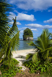 Single Rock at Coconut Point on Tutuila Island, American Samoa, South Pacific, Pacific Photographic Print by Michael Runkel