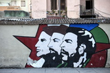 Revolutionary Mural Painted on Wall, Havana Centro, Havana, Cuba, West Indies, Central America Photographic Print by Lee Frost