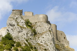 Chateau De Peyrepertuse, a Cathar Castle, Languedoc, France, Europe Photographic Print by Tony Waltham