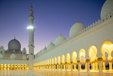Sheikh Zayed Bin Sultan Al Nahyan Mosque at Dusk, Abu Dhabi, United Arab Emirates, Middle East Photographic Print by Frank Fell