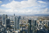 High Angle View of Financial Centre, Frankfurt-Am-Main, Hesse, Germany, Europe Photographic Print by Mark Doherty