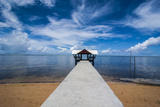 Boat Pier in the North of the Island of Babeldoab, Palau, Central Pacific, Pacific Photographic Print by Michael Runkel