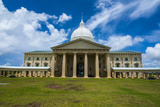 Parliament Building of Palau on the Island of Babeldoab, Palau, Central Pacific, Pacific Photographic Print by Michael Runkel