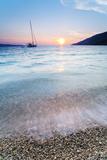 Adriatic Sea Off Zlatni Rat Beach at Sunset, Bol, Brac Island, Dalmatian Coast, Croatia, Europe Fotografisk trykk av Matthew Williams-Ellis