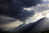 Summer Storm Clearing over the Mountains of the Valais Region, Swiss Alps, Switzerland, Europe Photographic Print by David Pickford