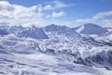 View of Slopes Near Belle Plagne, La Plagne, Savoie, French Alps, France, Europe Photographic Print by Peter Barritt