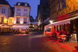 Place Plumereau in Vieux Tours on a Late December Evening, Tours, Indre-Et-Loire, France, Europe Photographic Print by Julian Elliott