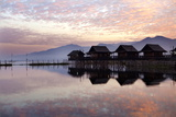 Golden Island Cottages at Sunrise, Tourist Accommodation on Inle Lake, Myanmar (Burma) Photographic Print by Lee Frost