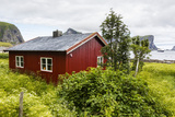 Norwegian Summer Homes in the Town of Vaeroya, Nordland, Norway, Scandinavia, Europe Photographic Print by Michael Nolan