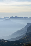 Mountain Silhouette, Chamonix, Haute-Savoie, French Alps, France, Europe Photographic Print by Christian Kober