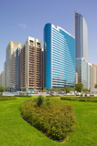 Contemporary Architecture Along the Corniche, Abu Dhabi, United Arab Emirates, Middle East Photographic Print by Frank Fell