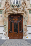 An Art Nouveau Doorway in Central Paris, France, Europe Photographic Print by Julian Elliott
