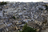 View over the Sassi of Matera in Basilicata, Italy, Europe Photographic Print by Olivier Goujon