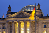 Close-Up of the Reichstag at Night, Berlin, Germany, Europe Photographic Print by Miles Ertman