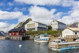 Norwegian Cod Fishing Town of Reine, Lofoton Islands, Norway, Scandinavia, Europe Photographic Print by Michael Nolan
