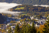 View over Berchtesgaden in Autumn, Berchtesgaden, Bavaria, Germany, Europe Photographic Print by Miles Ertman
