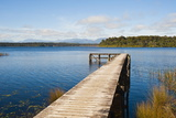 Pier at Lake Mahinapua, West Coast, South Island, New Zealand, Pacific Photographic Print by Matthew Williams-Ellis