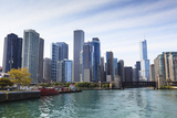 City Skyline from the Chicago River, Chicago, Illinois, United States of America, North America Photographic Print by Amanda Hall