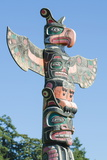 Totem Poles in Cemetery in Alert Bay, British Columbia, Canada, North America Photographic Print by Michael DeFreitas