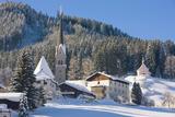 Gosau in Winter, Gosau, Salzkammergut, Austria, Europe Photographic Print by Miles Ertman