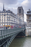 The Banks of the Seine and Notre Dame De Paris Cathedral, Paris, France, Europe Photographic Print by Julian Elliott