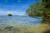 Little Rock Islet in the Famous Rock Islands, Palau, Central Pacific, Pacific Photographic Print by Michael Runkel