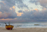 Boat on Beach, Ahlbeck, Island of Usedom, Baltic Coast, Mecklenburg-Vorpommern, Germany, Europe Photographic Print by Miles Ertman