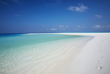 Tropical Island and Lagoon, Maldives, Indian Ocean, Asia Photographic Print by Sakis Papadopoulos