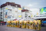 Newborn Monument, Pristina, Kosovo, Europe Photographic Print by Christian Kober