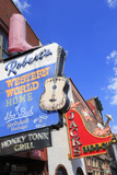Signs on Broadway Street, Nashville, Tennessee, United States of America, North America Lámina fotográfica por Cummins, Richard